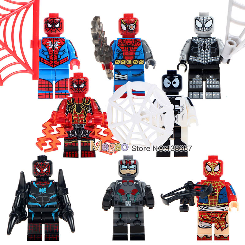 10Lots de SY674 Marvel Spiderman Set Venom Carnage fer Spider Man 2099 blocs de construction ensembles modèle briques jouets Spider Man-in Blocs from Jeux et loisirs    1