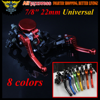 2017 Hot Sale 7 8 22mm Standard Handle Bar Universal Motorcycle CNC Brake Clutch Levers Master