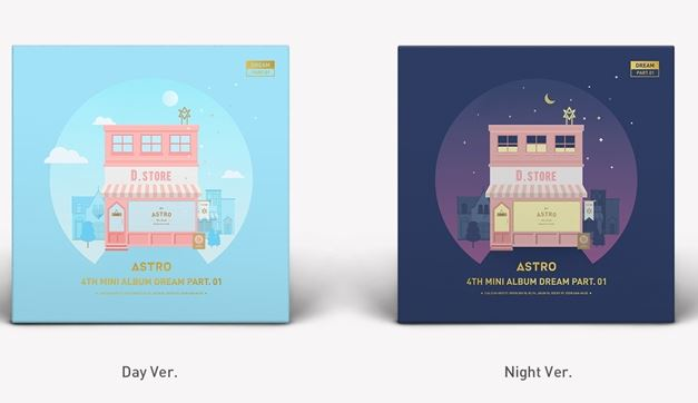 ASTRO 4TH MINI ALBUM - DREAM PART.01 (VER. NIGHT) + ver. day- Release Date 2017.05.30 exo 4th album repackage the war the power of music chinese ver korean ver 2 version set release date 2017 09 06