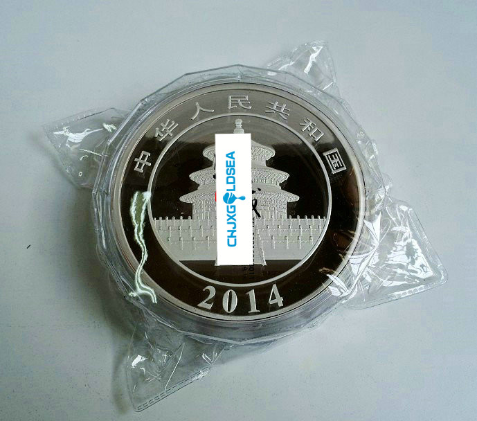 2014 Year 1000g 1kg Weight China panda Silver coins with COA certificate for Animal Coin free shipping in Non currency Coins from Home Garden
