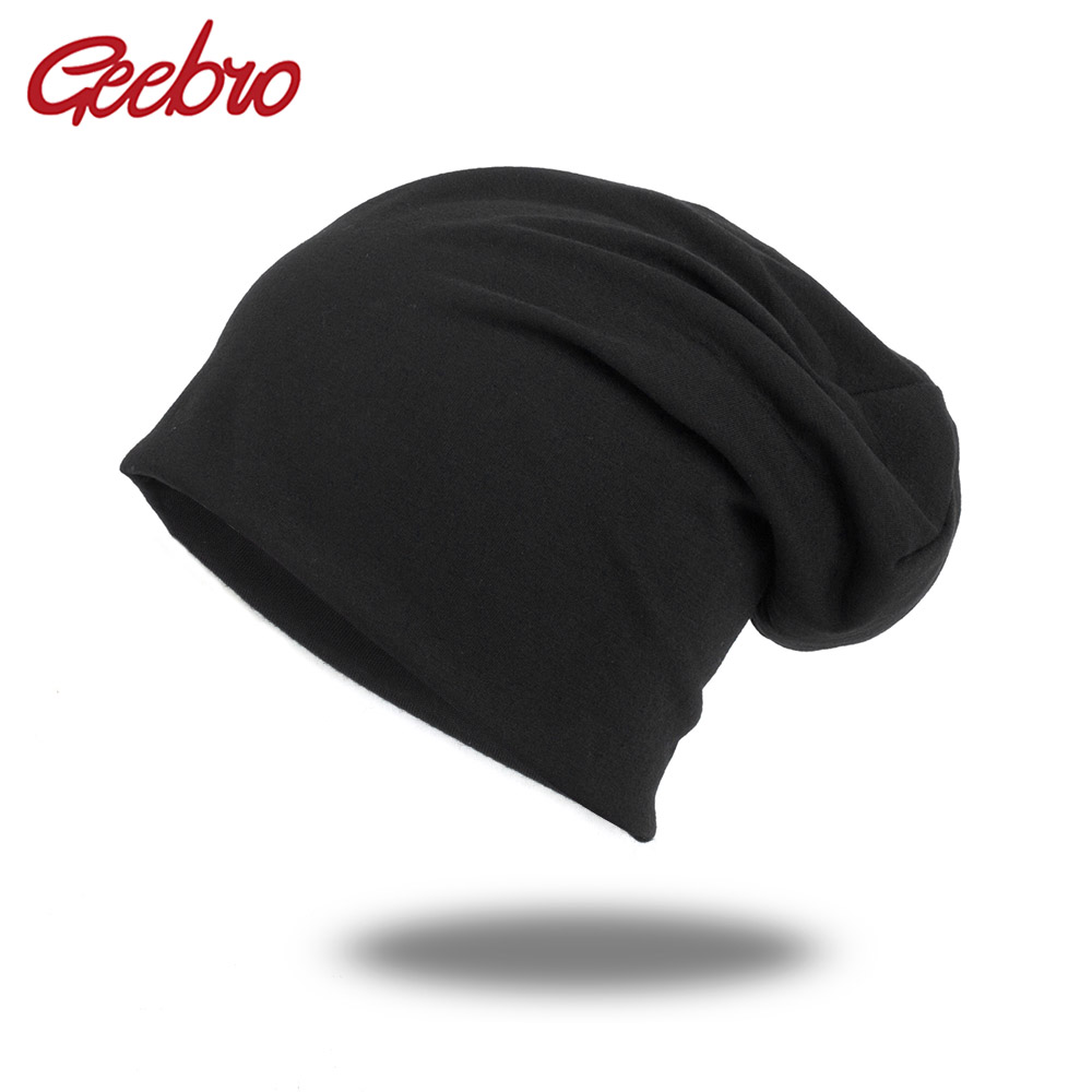 Geebro 2019 Casual Hats For Unisex Women New Beanies Knitted Solid Cute Hat Girls Autumn Female Beanie Caps Warmer Bonnet Ladies
