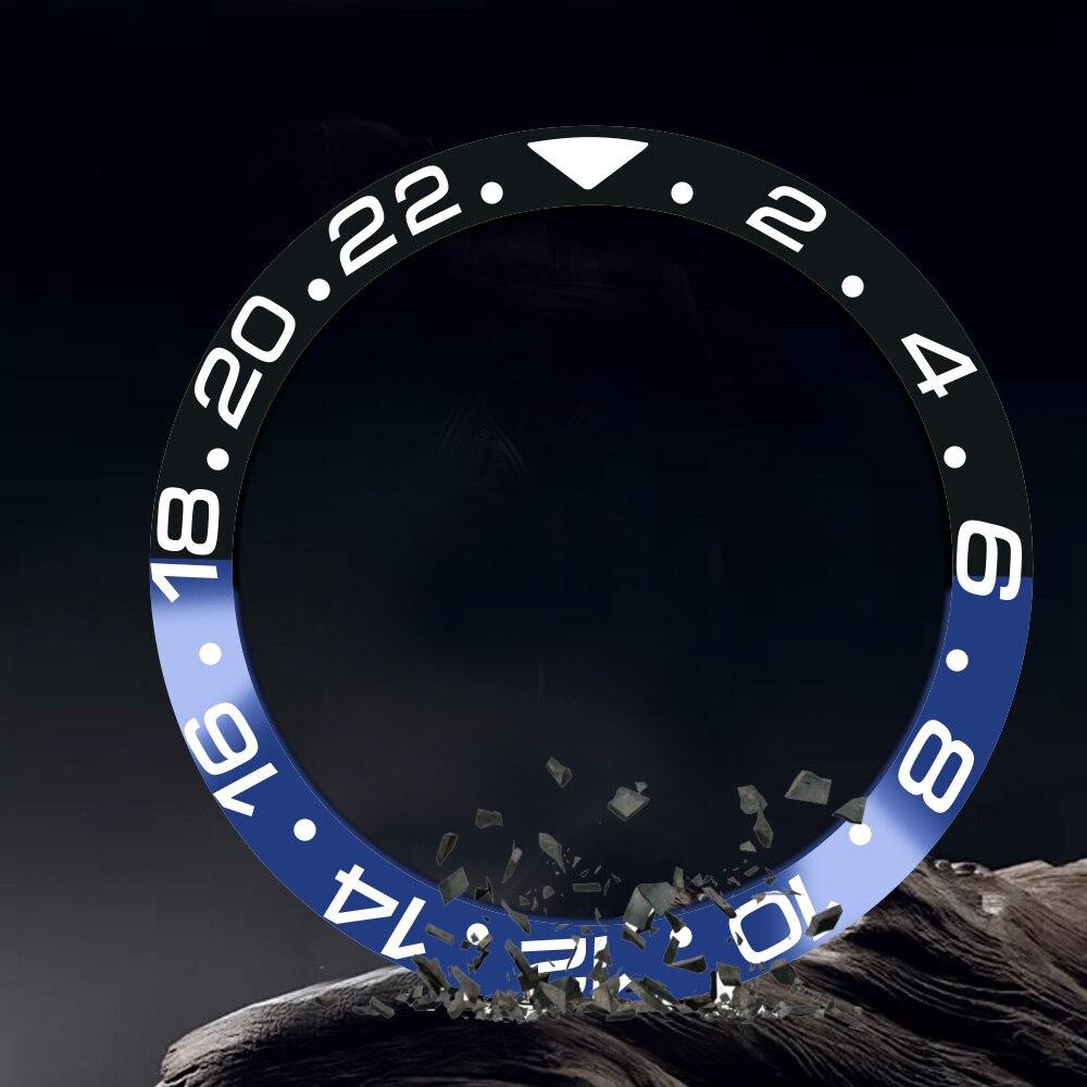 Uhrenzubehör 38mm Blau Und Schwarz Keramik Lünette Geeignet Für 40mm Sub Automatische Uhr Seien Sie In Geldangelegenheiten Schlau Klug Uhren Ersatzteile
