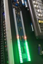 Ghxampデュアル 40 led音楽スペクトルレベルインジケータボードオーディオMP3 サウンドコントロールインジケータvuメーターアンプサブウーファー車 5v