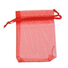 1 шт. Подарочный пакет из органзы, упаковочные пакеты для ювелирных изделий, небольшие подарочные сумки для конфет на заказ, сумки для свадебных украшений красного цвета