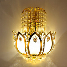 Gold Crystal led Wall Sconces Lamps for Bedroom Living Room Bedside Bathroom Closet Night Light Modern Luxury Wall Light