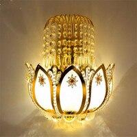 Ouro cristal led arandelas de parede lâmpadas para o quarto sala estar cabeceira banheiro armário luz da noite moderno luxo parede luz