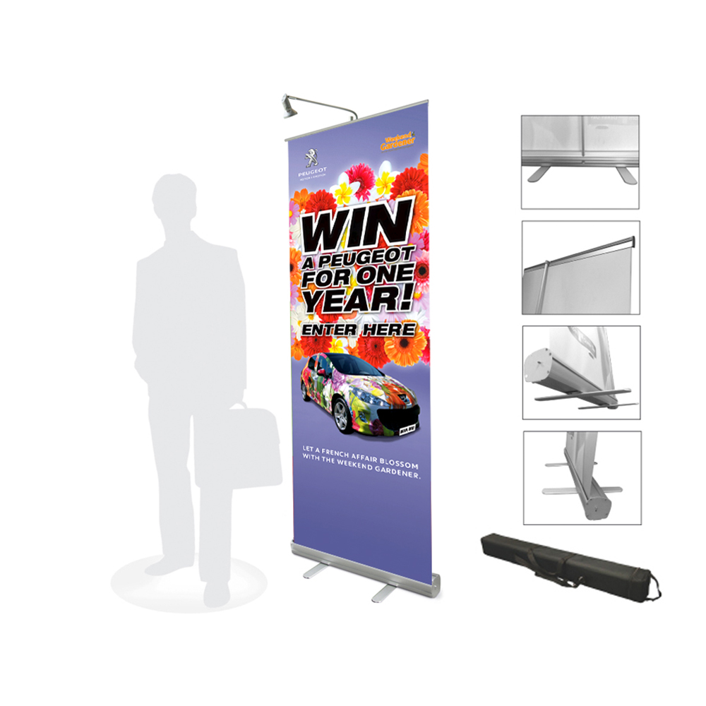 US $68 0 |Free Shipping to USA,Canada, Austrlia Singapore 85x200cm Roll Up  Display Banner Stand Advertising Sign With PVC Synthetic Paper-in Flags,