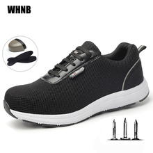 Summer Steel Toe Safety Shoes Men Lightweight Breathable Anti Smashing and Static Insulation
