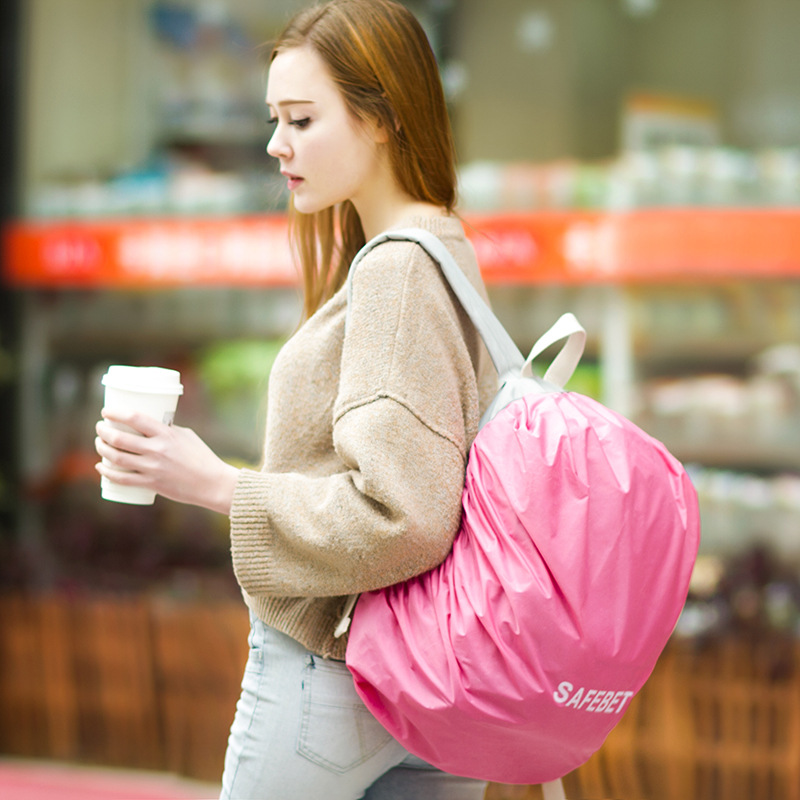 New Candy Color Backpack dust Cover Rain Antifouling Backpack Confinement