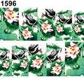 Popular flor hermosa de transferencia de agua del clavo de la manicura Salon Art Stickers Tips de bricolaje decoraciones