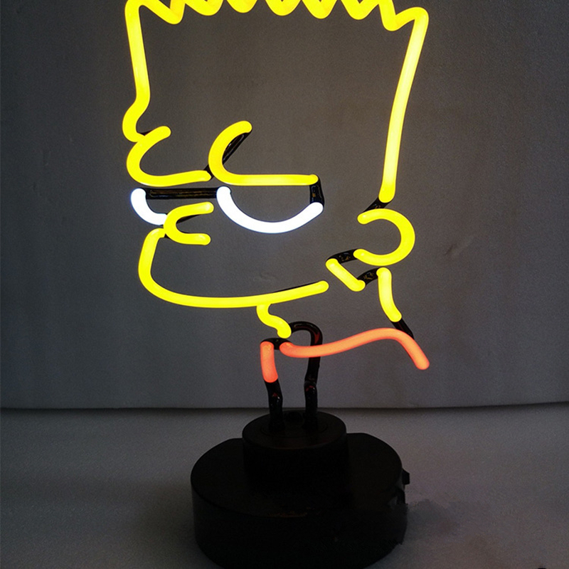 Bart Simpson Neon Lights