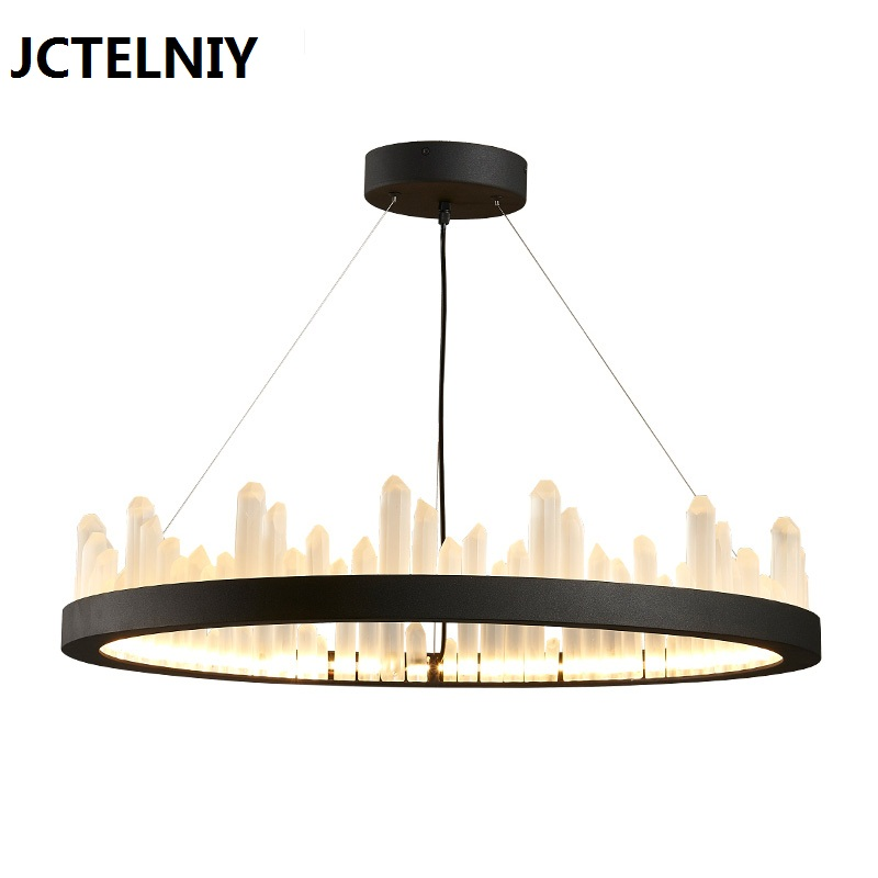 2017 Nordic brief fashion vintage crystal lamp led modern chandelier lighting fixtures 40cm/60cm/80cm home Height adjustable