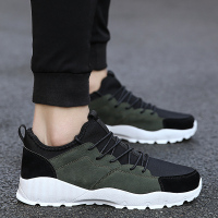 Man Running Shoes Spring Autumn Jogging Male Sneakers Army Green Black Mens Trainers Shoes Comfortable Sport Shoes Men