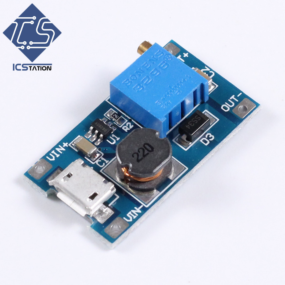 4PCS DC-DC 2V-24V to 5/9/12/28V Boost Step-Up Power Module Micro USB Input 2A Voltage Converter Booster 30w dc 9 15v to dc 16 18v boost converter