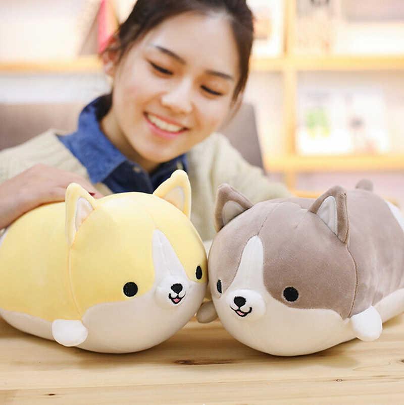 1pc śliczne Corgi pluszowy pies zabawka nadziewane miękka poduszka ze zwierzątkiem piękny prezent kreskówka dla dzieci Kawaii prezent walentynkowy
