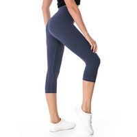 2018 NWT Eshtanga Woman Capris Top Quality Women Yoga High Elastic Waist Solid Skinny Stretch Leggings