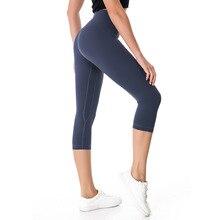 2018 NWT Eshtanga woman capris Top Quality Women Yoga High Elastic Waist Solid Skinny Stretch Leggings Size XXS-XL Free Shipping