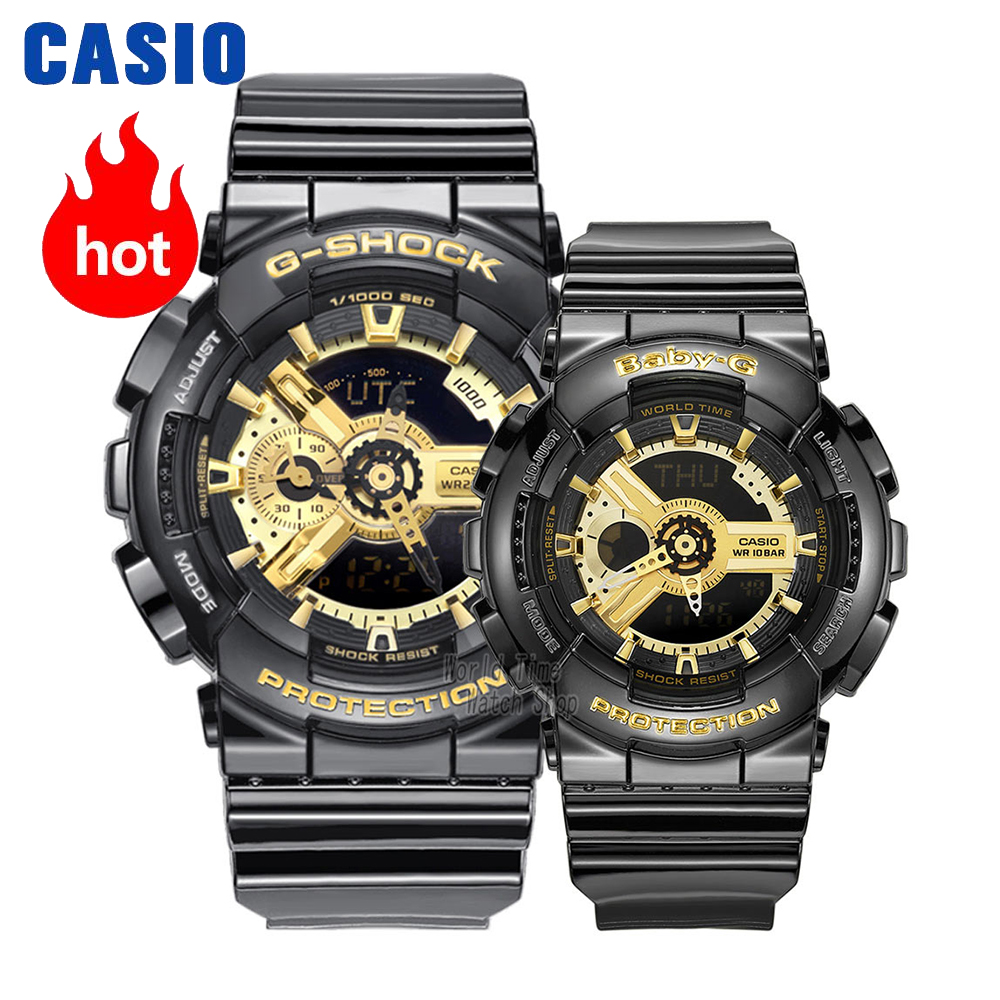 Casio Watch Couple Watches Men And Women Fashion Sports Watch Waterproof Electronic Form Set GA-110GB-1A BA-110-1A