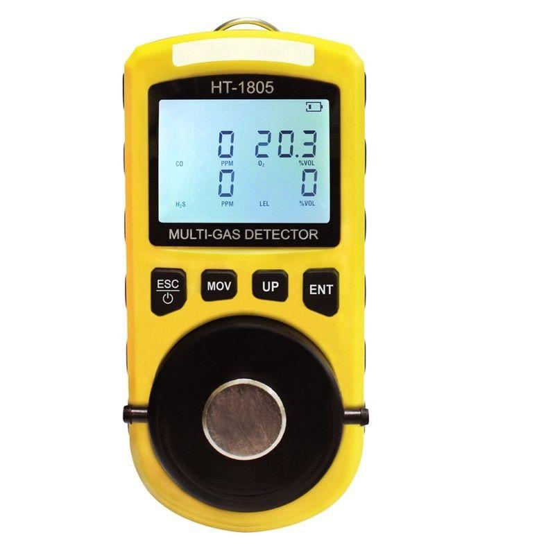 4 in 1 Multi Rilevatore di Gas Combustibile CO O2 Ossigeno Idrogeno Solforato H2S 0 ~ 500PPM Monossido di Carbonio Analizzatore di Gas Monitor