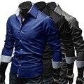 Магазин 15Men's Стильный Slim Fit С Длинным Рукавом Платье Рубашка Повседневная Ти Топы Рубашки Бизнеса
