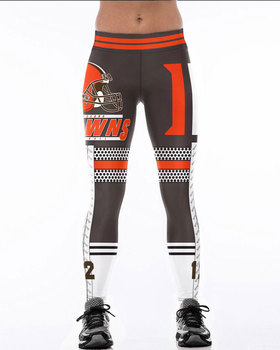 Unisex Football Team Browns 12 Print Tight Pants Workout Gym Training Running Yoga Sport Fitness Exercise Leggings Dropshipping