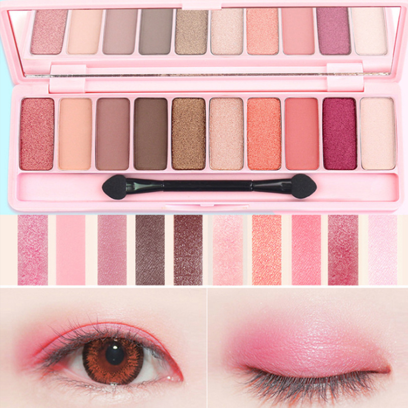 Beauty & Health Beauty Essentials Lameila Brand 10or12 Color Eye Shadow Of Cherry Blossoms Suit Pearl Light Dumb Light Lasting Coloration Waterproof Eye Shadow
