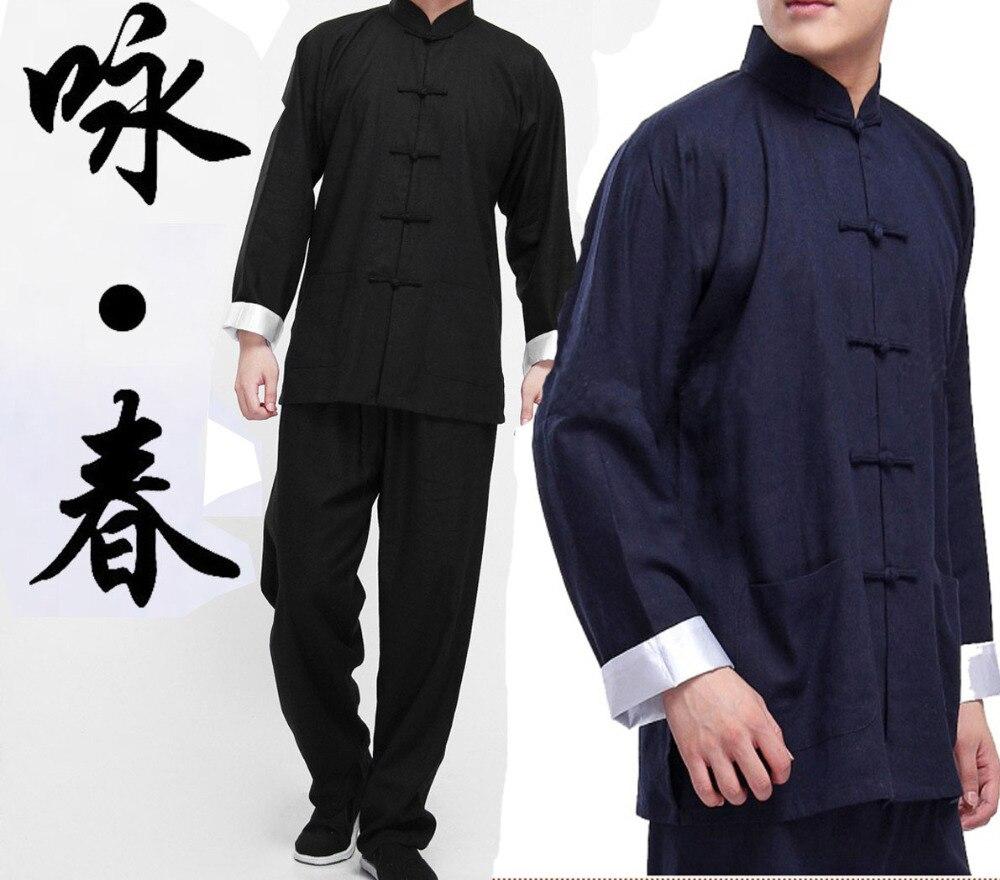 Livraison gratuite aile Chun uniforme Bruce Lee kung fu uniforme wushu vêtements Tai Chi Art Martial costume taiji vêtements veste pantalons ensembles