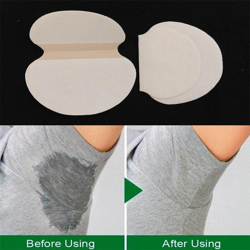 100pcs 50Pack Disposable Cotton Pads Underarm Armpit Sweat Pads  Deodorant Summer Dress Sweat Perspiration Pads Shield Absorbing