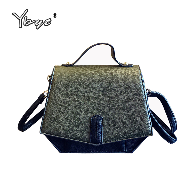 YBYT brand 2018 new vintage casual PU leather women bag retro satchel female shopping package shoulder messenger crossbody bags casual canvas satchel men sling bag