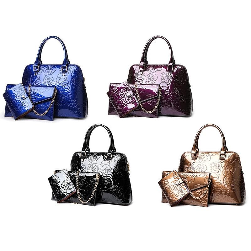 Wulekue PU 4 Color Composite Women Crossbody bags Lady Handbag Women Shoulder Bags Wallet Key Bag As Gift For Travel