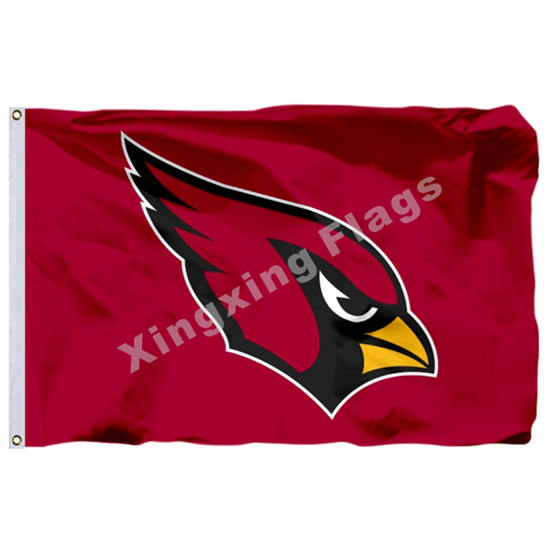 Arizona Cardinals Logo Flag 3ft X 5ft Polyester NFL Arizona Cardinals Banner Flying Size No.4 144* 96cm Custom Flag