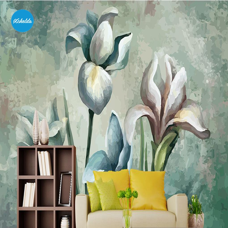 XCHELDA Custom 3D Wallpaper Design Retro Flowers Bud Photo Kitchen Bedroom Living Room Wall Murals Papel De Parede Para Quarto kalameng custom 3d wallpaper design street flower photo kitchen bedroom living room wall murals papel de parede para quarto