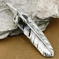 Punk Rocker Fashion Pendant Solid 925 Sterling Silver Cool Men's Biker  Eagle Claw Feather Pendant  8T005
