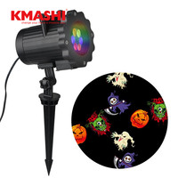 Kmashi Halloween Christmas LED Projector Light 16 Pattern Lens Replaceable Lawn Projection Lamp Night Light Landscape