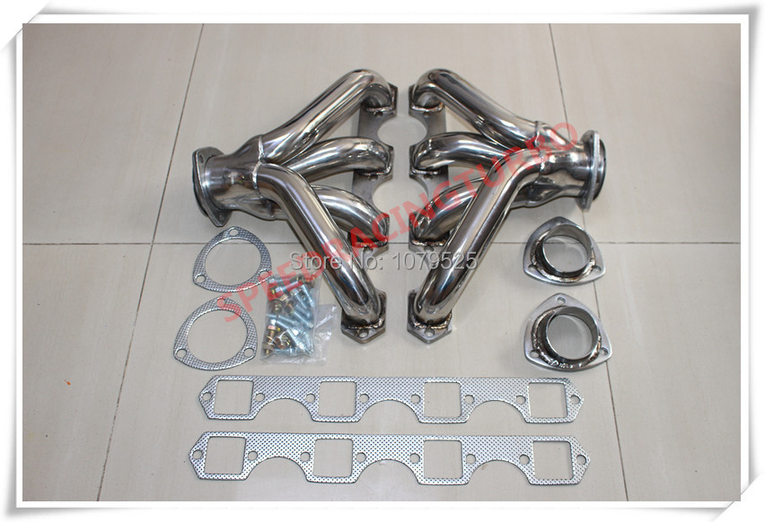 396-502 402 427 454 CHEVY большой блок BBC V8 нержавеющая сталь гоночная заголовка выхлопной трубы