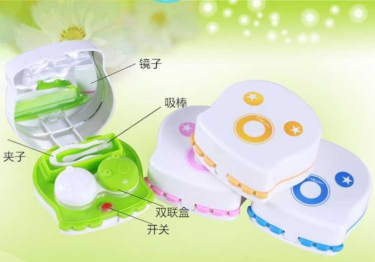 LIUSVENTINA Портативный милые выражения Тип Электрический автоматическое контактные линзы шайба поле очиститель для Цвет линзы подарок для девочки