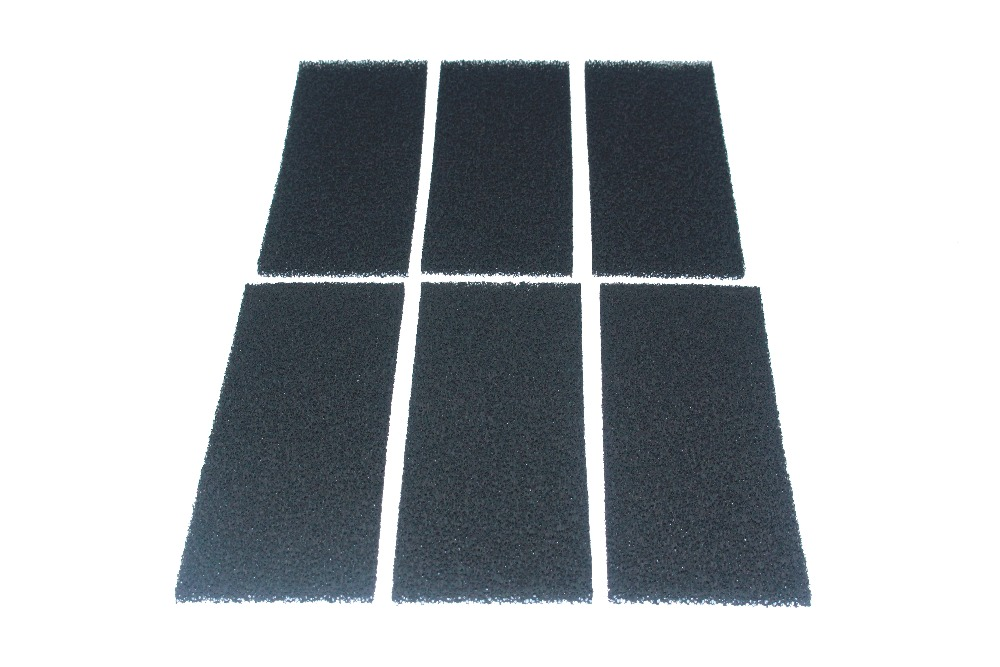 Pack of 6 Compatible Carbon Foam Filter Pads Replacement