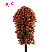 Deyngs Short Kinky Curly Claw in Ponytail Hair Extension Synthetic Pony Tail Tress Hair Piece Red/Black/Brown 3 Colors Available