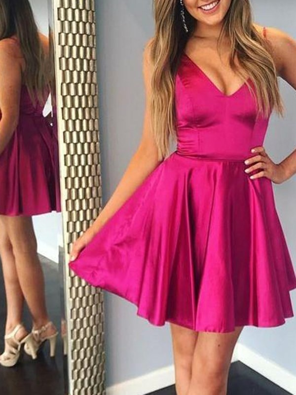 Dlass Sweetheart Ball Gown Homecoming Dress Demure Sleeveless Backless Mini Ruffles Prom Gown Cocktail Graduation Party Dresses