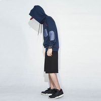 Brand Clothing 2016 Fashion Patchwork Stitching Pockets Cotton Mens Hoodies And Sweatshirts M 3XL Plus Size