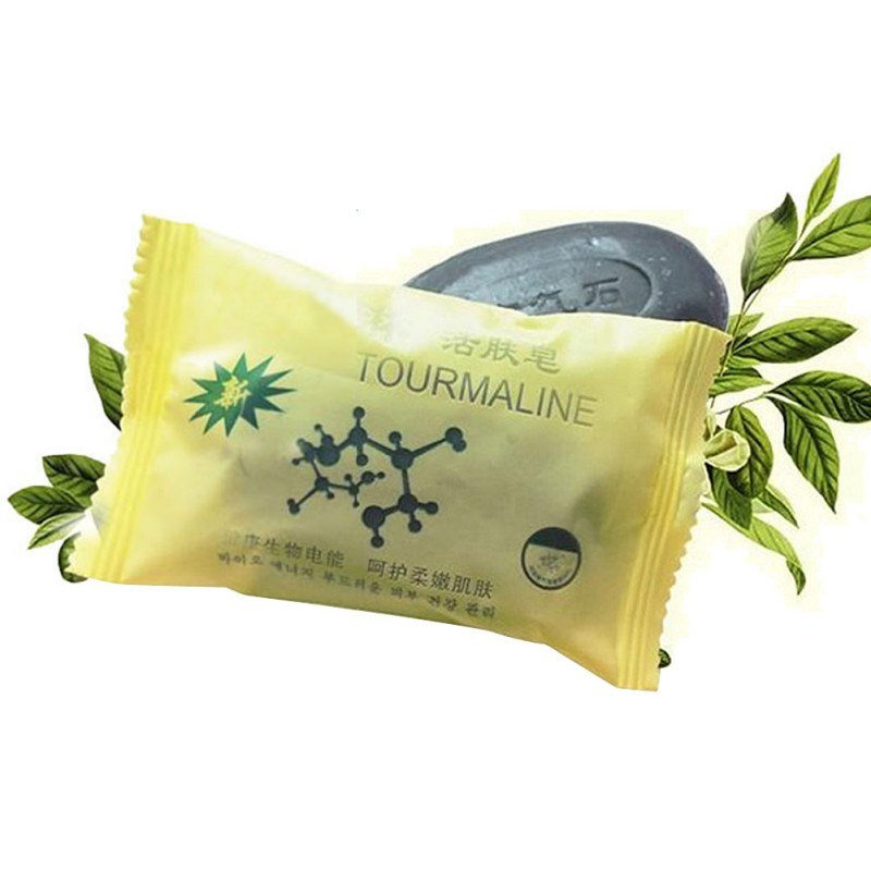 Face Care Beauty Natural Tourmaline Soap Bamboo Active Energy Charcoal Concentrated Ance Body Soap