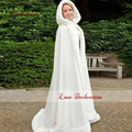 Knee Length Pink Color Bridal Capes Wedding Cloaks Faux Fur Perfect For Winter Wedding Bridal Cloaks Cape LD6562