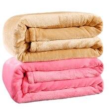 Королева размер Плед Сплошной цвет диван/постельные принадлежности Покрывала Фланелевое Одеяло, 200*230 см Зима Теплая Простыня