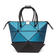 e929ff7404ae4 2019 neueste Vielzahl folding Tasche Frauen Schulter Taschen Geometrie  Diamant Matte farbe Tote Damen Handtaschen Mujer