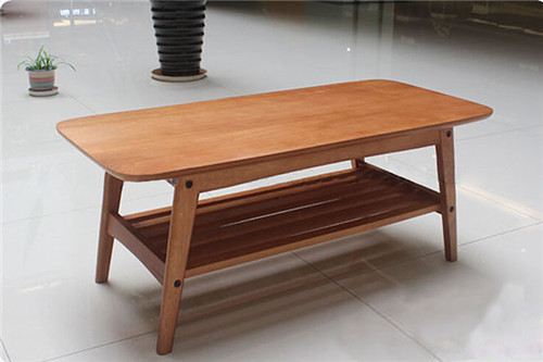 Modern Wood Table Solid Ash Natural Shelving Designs Living Room ...
