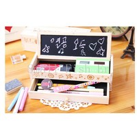 New Multifunctional Wooden School Pencil Box Pen Case High Grade Gift Box Vintage Stationery Holder With