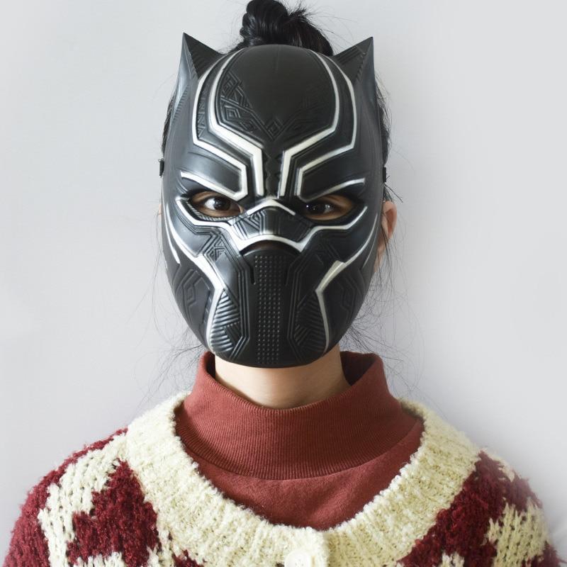 6ab474e6 US $7.99  Black panther kids cosplay mask Wakanda Plastic Black The  Avengers Infinity War superhero masks Halloween party children props-in  Boys ...