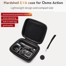 DJI osmo action accessori della macchina fotografica di azione di sport impermeabile DJI osmo tasca del sacchetto di caso di EVA con copriobiettivo cinturino da polso