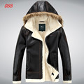 Free shipping ! men's fashion sheepskin wool one piece leather clothing berber Leisure fleece fur coat leather overcoat / M-XXL