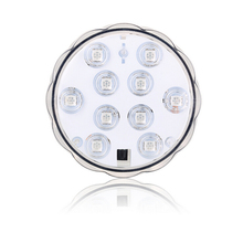 10-LED RGB Submersible MultiColor Waterproof LED Floralyte Tea Light Mood Lighting With Remote Control